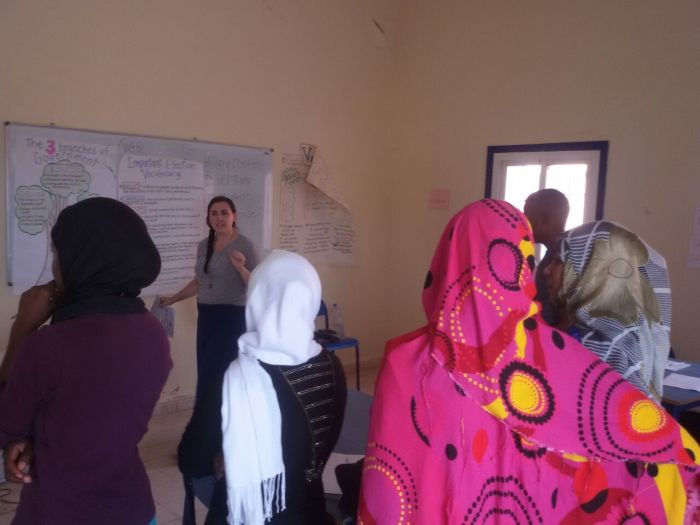 Teaching about the US Election in Morocco